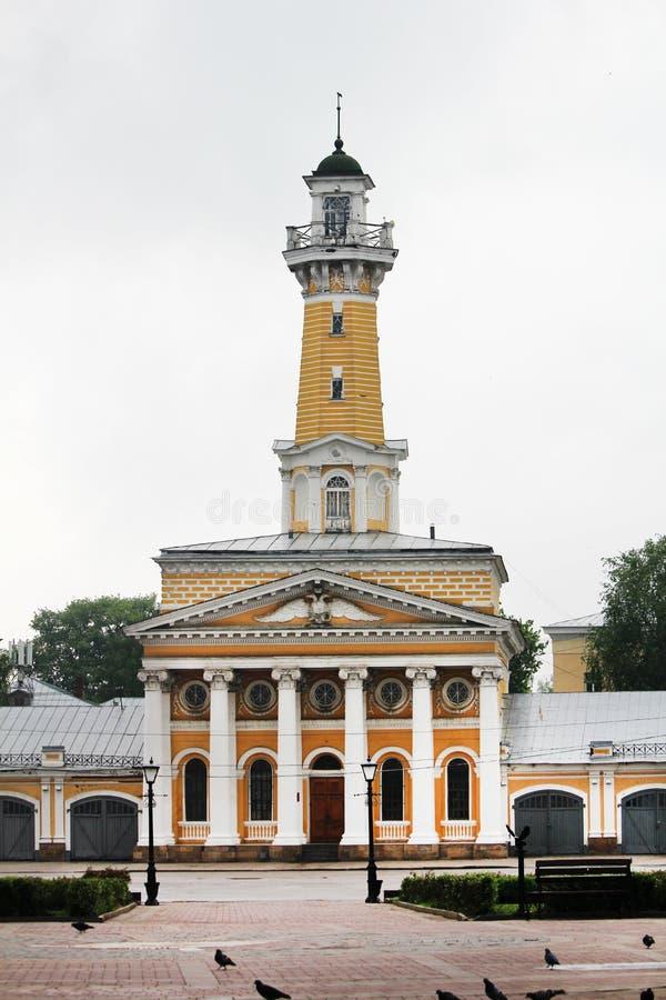 сторожевая башня Огн-замечания в Kostroma стоковое изображение