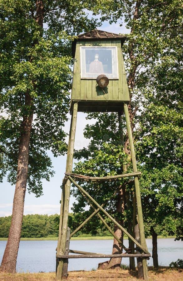 Сторожевая башня патруля Парк Grutas Литва стоковое фото rf