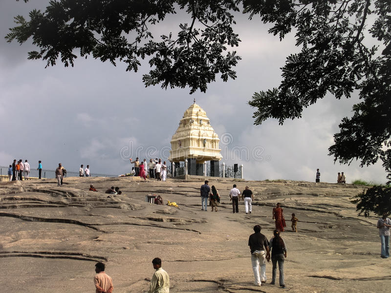 Сторожевая башня Kempe Gowda стоковое фото