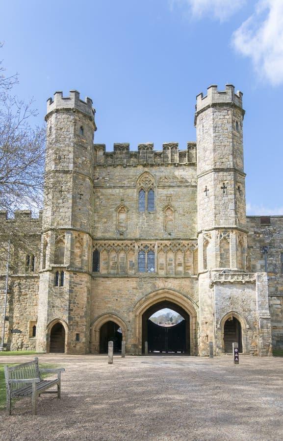 Сторожка аббатства сражения, Сассекс, Великобритания стоковая фотография rf