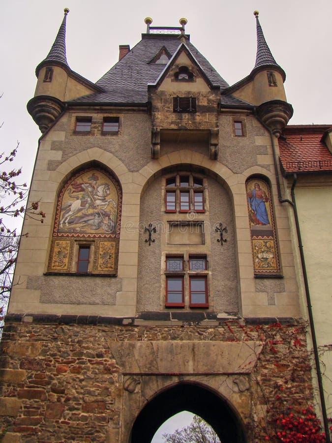 Сторожка к замку в Meissen стоковое изображение rf