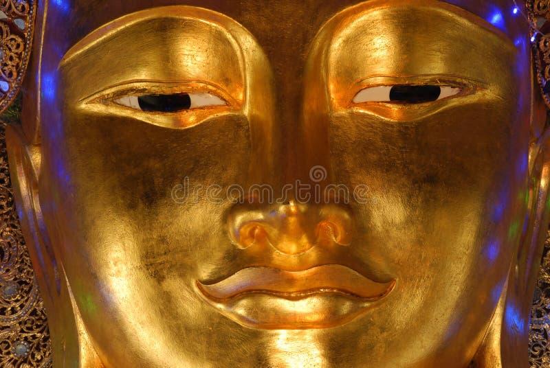 сторона Будды золотистая стоковая фотография