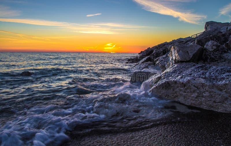 Сторона восхода солнца Великих озер стоковое изображение