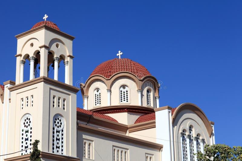 Сторона греческой церков стоковая фотография