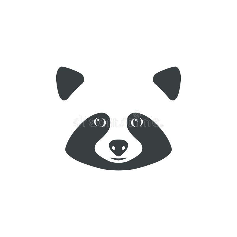 Сторона енота Идея талисмана енота для логотипа иллюстрация вектора