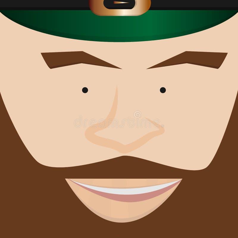 Сторона лепрекона дня ` s St. Patrick стоковое изображение