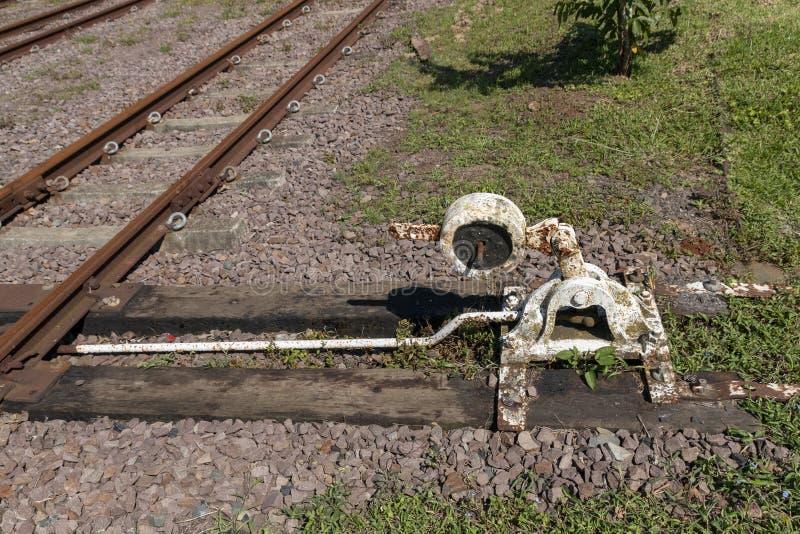 Сторона железнодорожного пути стоковая фотография rf