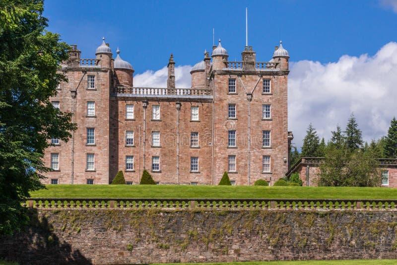 Сторона замка Drumlanrig, Dumfriesshire, Шотландии Великобритании стоковые фото
