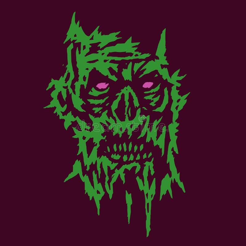 Сторона зеленого цвета изверга ужаса темноты также вектор иллюстрации притяжки corel бесплатная иллюстрация