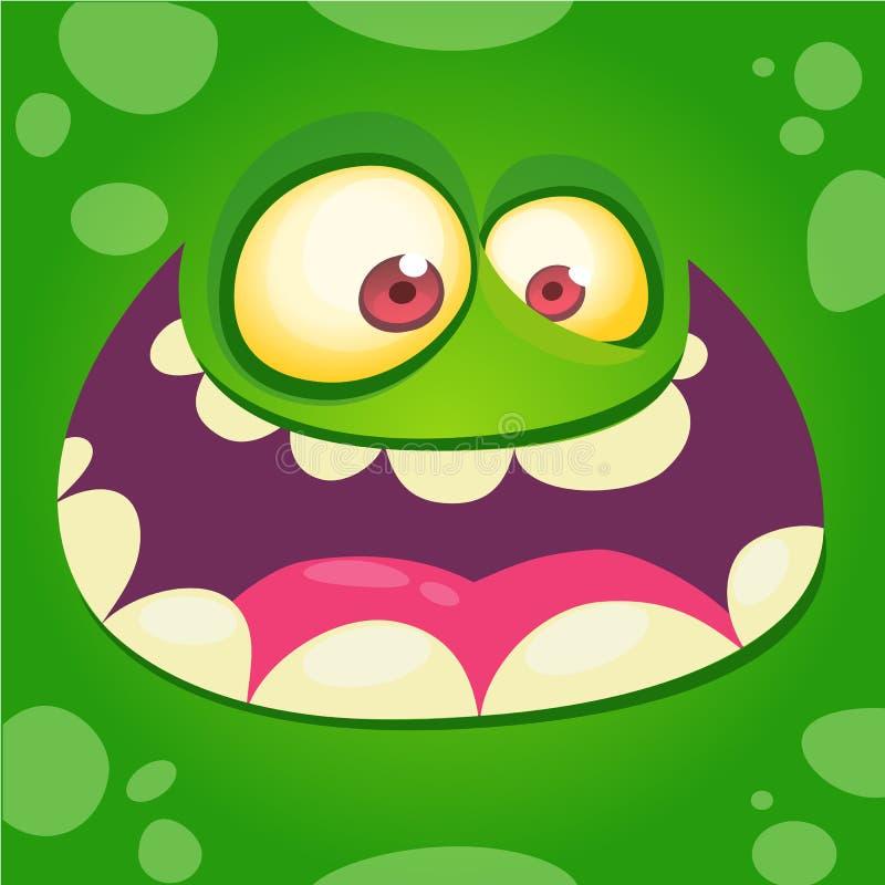 Сторона изверга шаржа счастливая Маска изверга хеллоуина Смешное воплощение изверга иллюстрация вектора
