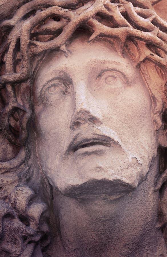 Сторона Иисуса Христоса (статуи, введенного в моду года сбора винограда) стоковые изображения rf