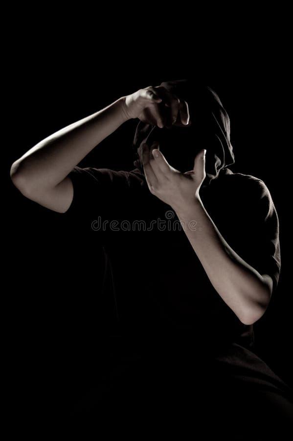 сторона камеры воздуха держит человека стоковое изображение
