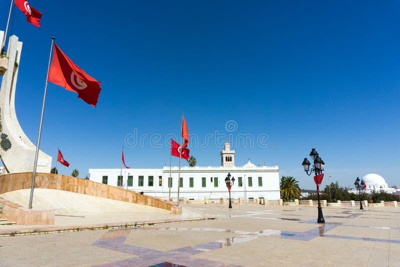 Сторона квадрата Kasbah в Тунисе, Тунисе стоковое изображение rf