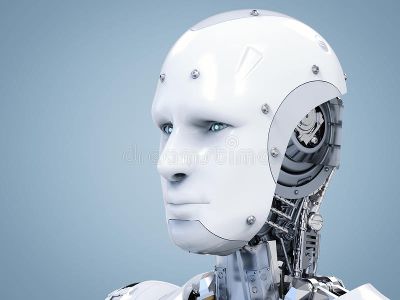 Сторона киборга или сторона робота стоковые изображения rf