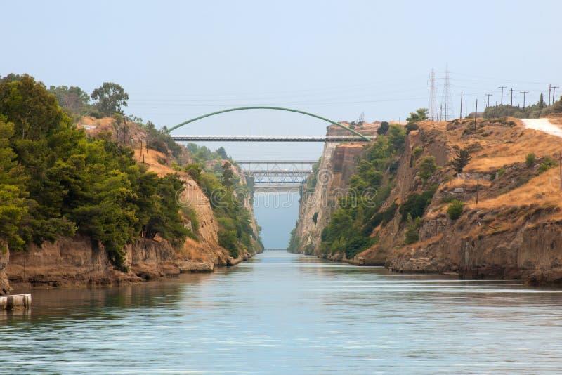 сторона Коринфа канала северная стоковая фотография