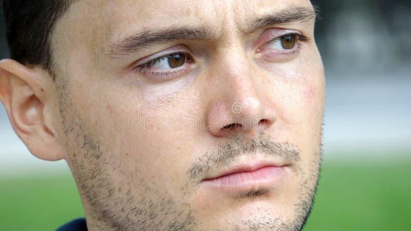 Сторона красивого мужчины стоковое изображение rf