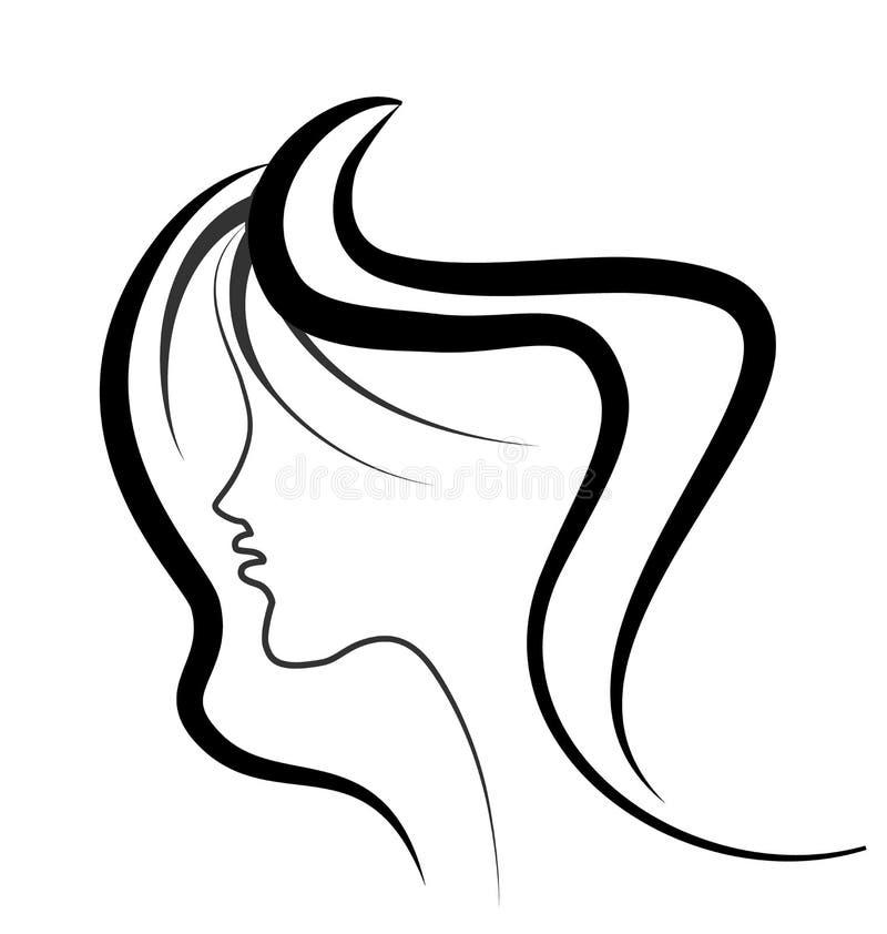 Сторона красоты женщины иллюстрация вектора