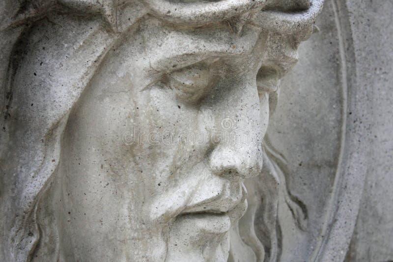 Сторона кроны Иисуса Христоса терниев (статуя) стоковая фотография rf
