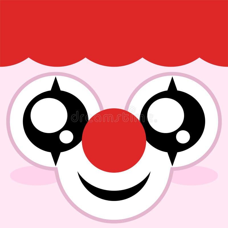 Сторона клоуна иллюстрация вектора