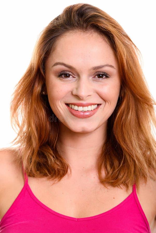 Сторона молодой счастливый бразильский усмехаться женщины стоковая фотография rf