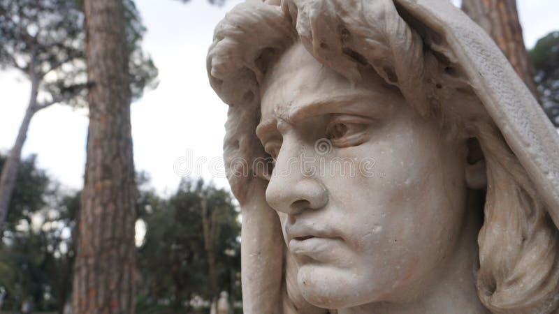 Сторона мраморной статуи бюста стоковая фотография rf
