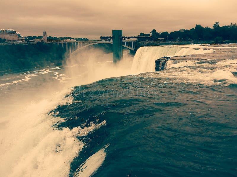 Сторона Нью-Йорка Ниагарского Водопада стоковые изображения rf