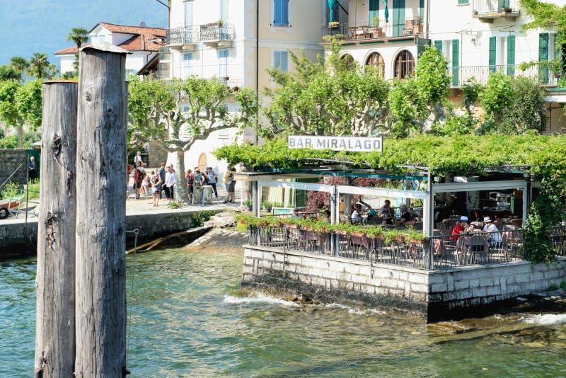 Сторона озера ресторан стоковая фотография rf