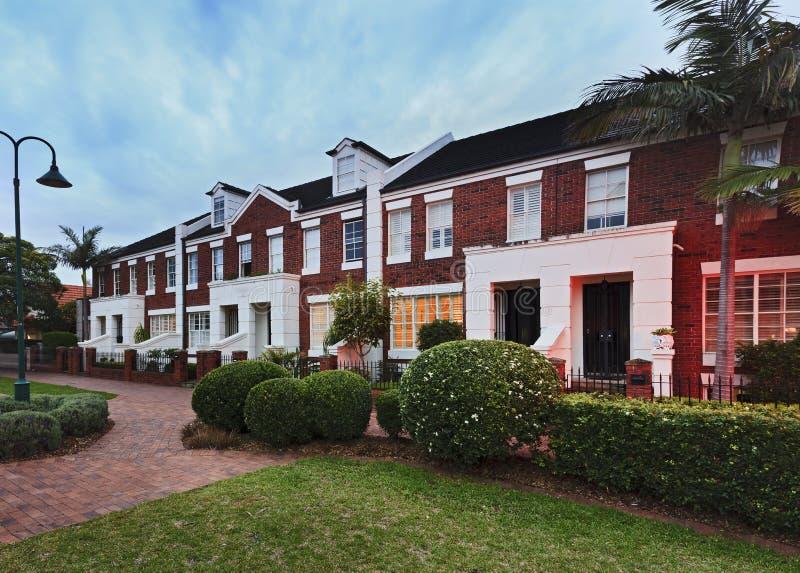 Сторона дома террасы Сиднея стоковое изображение rf