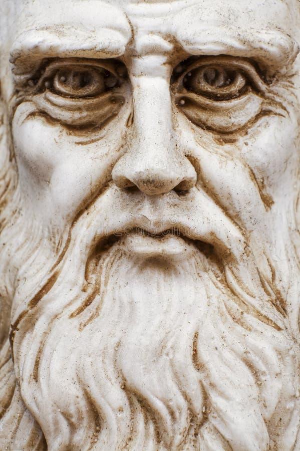 Сторона прифронтового взгляда Леонардо Да Винчи вся стоковая фотография rf