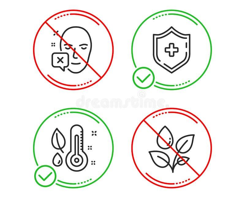 Сторона просклоняла, термометр и медицинский набор значков экрана Заводы моча знак r бесплатная иллюстрация