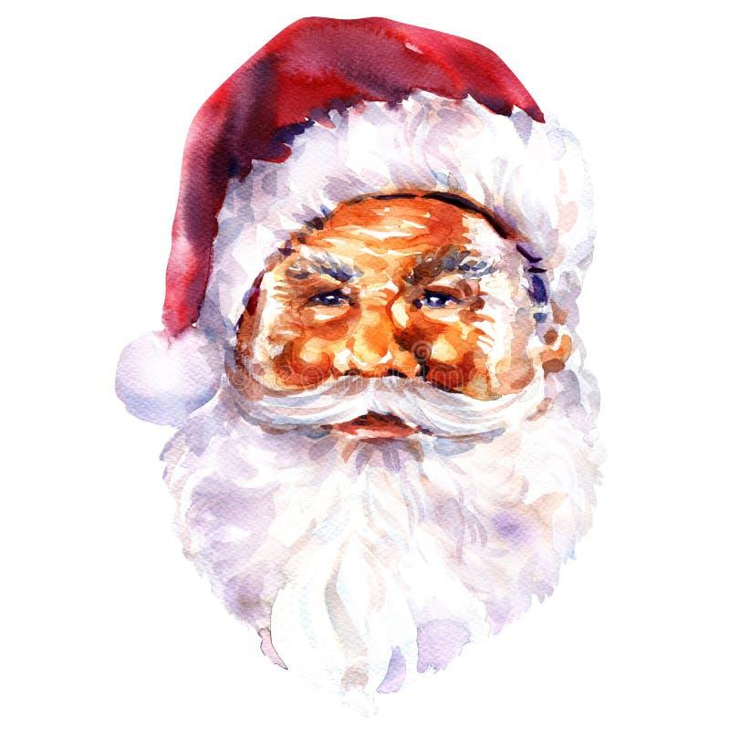 Сторона Санта Клауса, рождественской открытки иллюстрация вектора