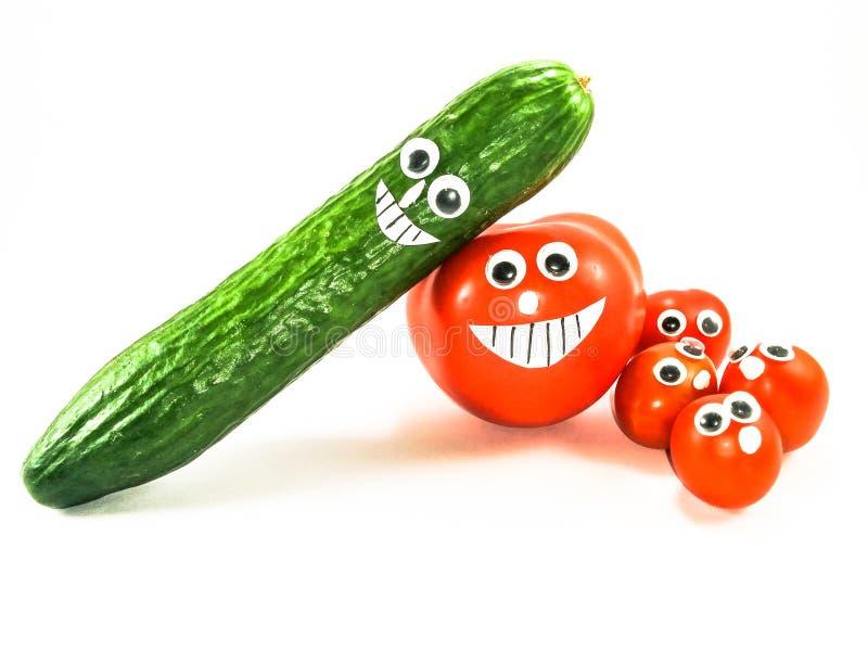 Сторона семьи Vegetabel счастливая стоковые фото