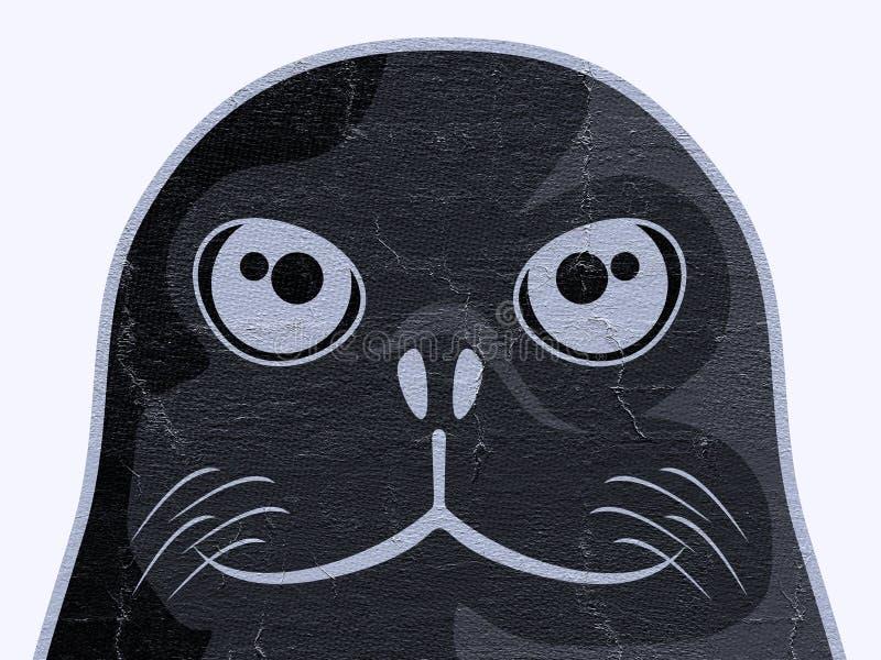 Сторона собаки уплотнения иллюстрация вектора