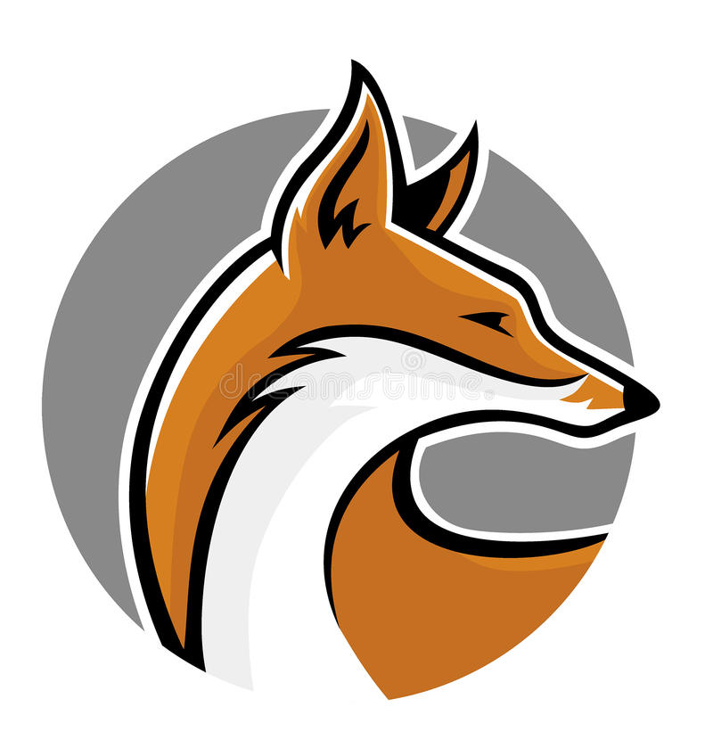 Сторона талисмана Fox иллюстрация вектора