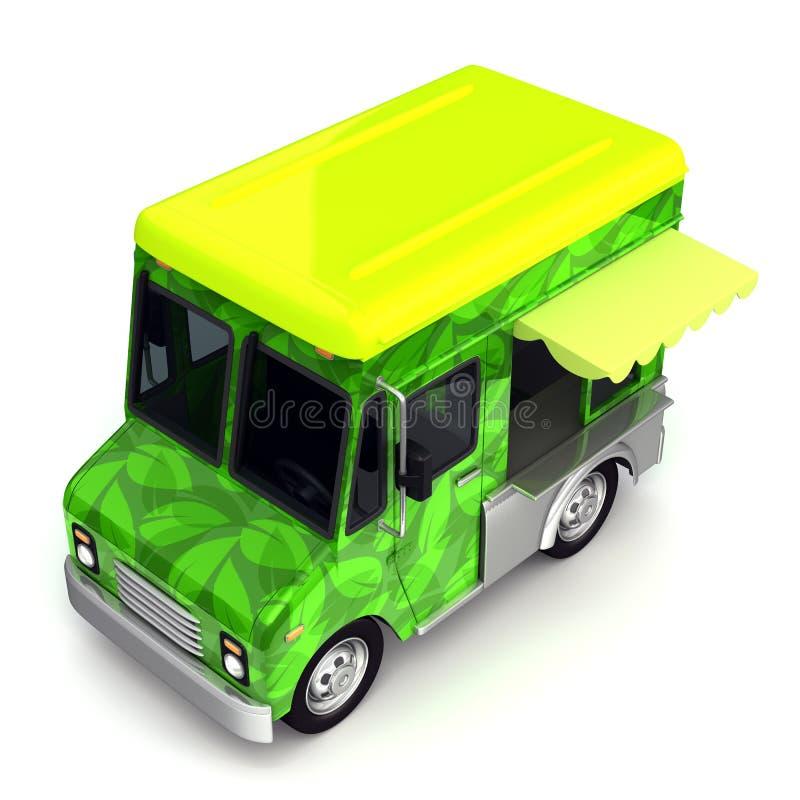 Сторона тележки зеленой еды Eco иллюстрация штока