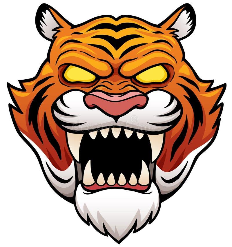 Сторона тигра иллюстрация вектора