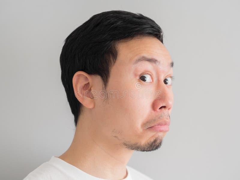 Сторона удара съемки головы человека стоковое фото rf