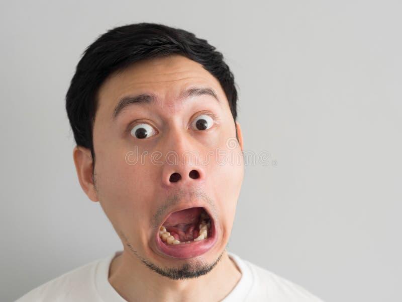 Сторона удара съемки головы человека стоковое изображение