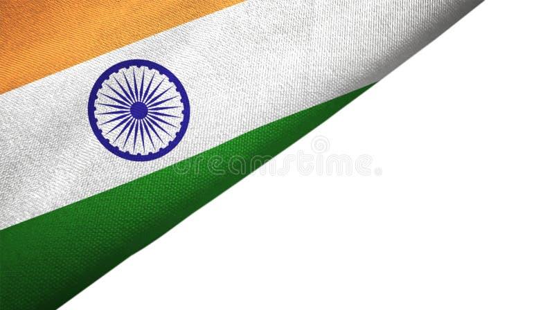Сторона флага Индии левая с пустым космосом экземпляра иллюстрация вектора