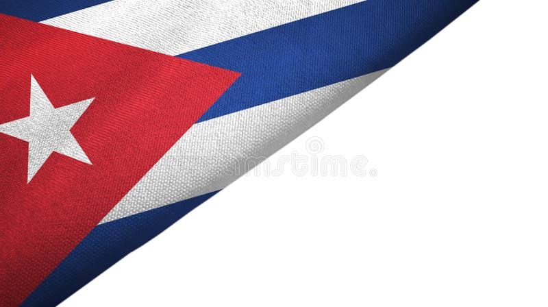 Сторона флага Кубы левая с пустым космосом экземпляра иллюстрация штока