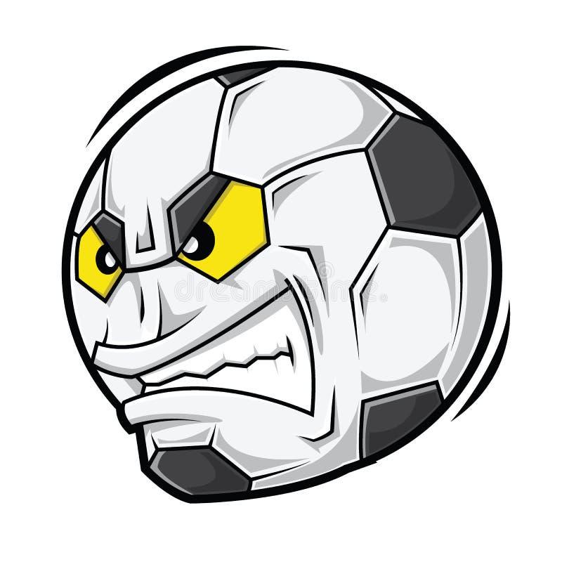 Сторона футбола шаржа сердитая иллюстрация штока