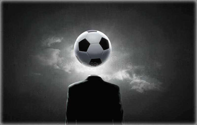Сторона футбола иллюстрация вектора