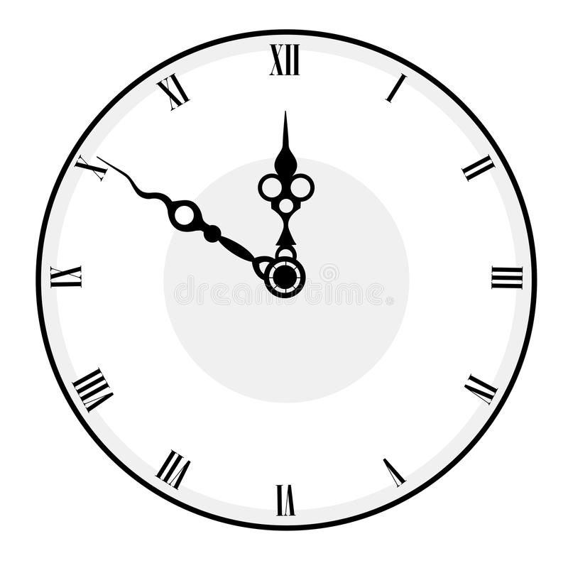 сторона часов иллюстрация штока