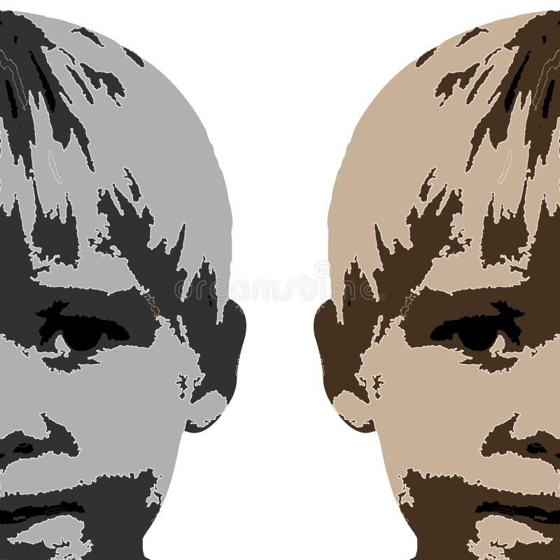 сторона чертежа мальчика бесплатная иллюстрация
