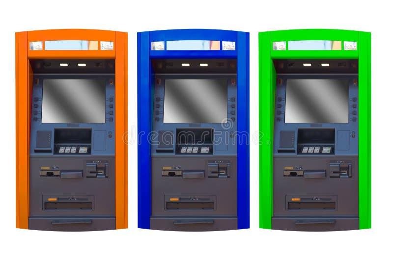Сторона ATM банкомата изолировала стоковое изображение