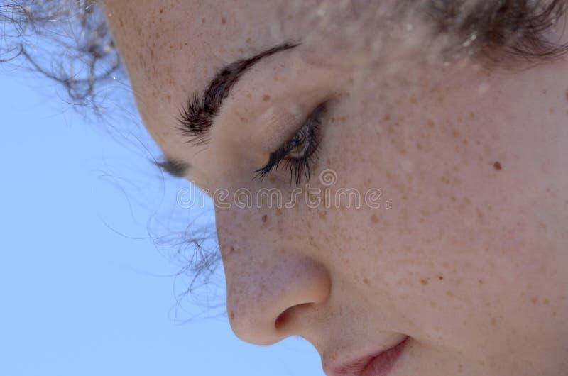 сторона freckled стоковые изображения rf