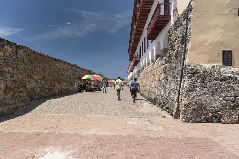 Сторона Museo Военноморск Del Caribe, Cartagena стоковое фото