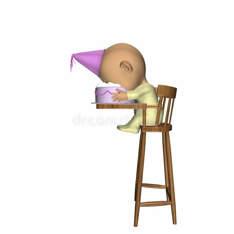 сторона s именниного пирога младенца бесплатная иллюстрация