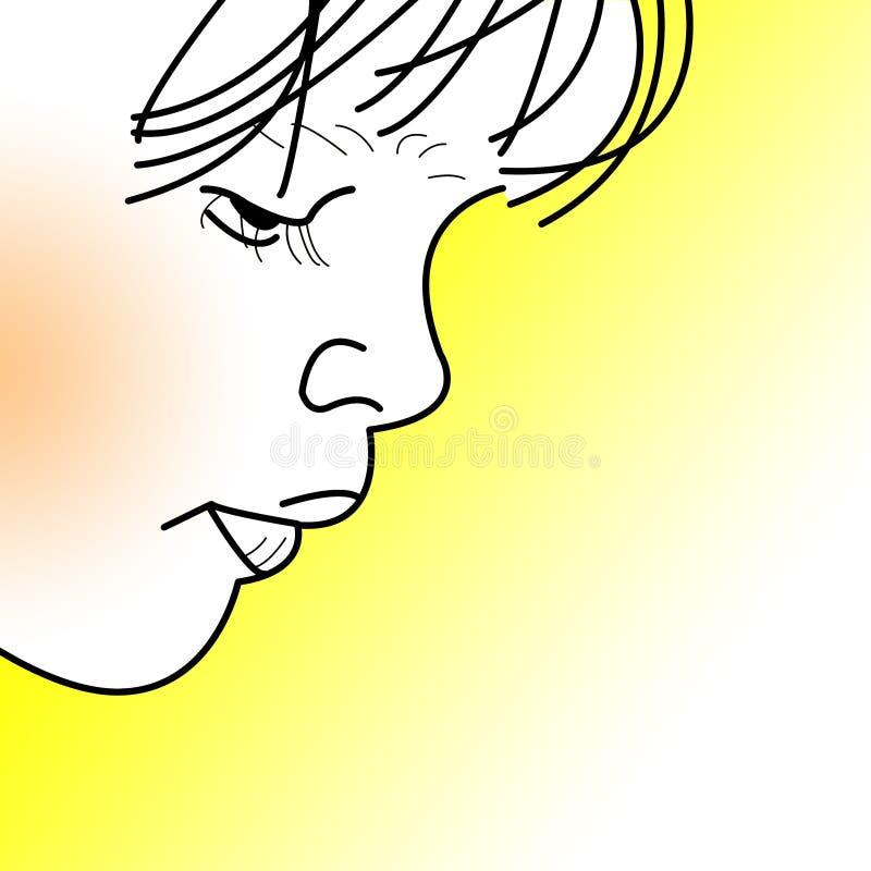 сторона s ребенка иллюстрация штока