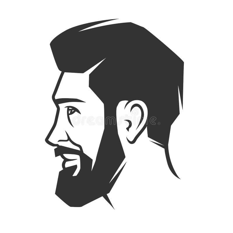 Сторона ` s человека с бородой бесплатная иллюстрация